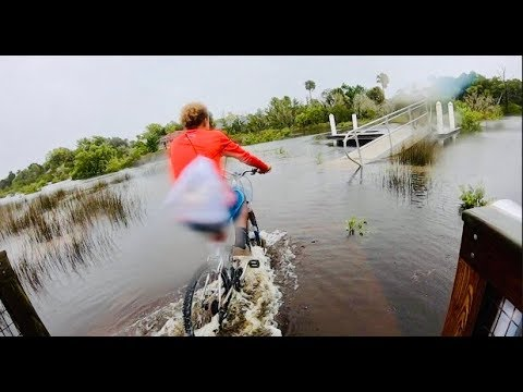 It's FLOODED! Bike Ride Adventure after Hurricane Dorian!!