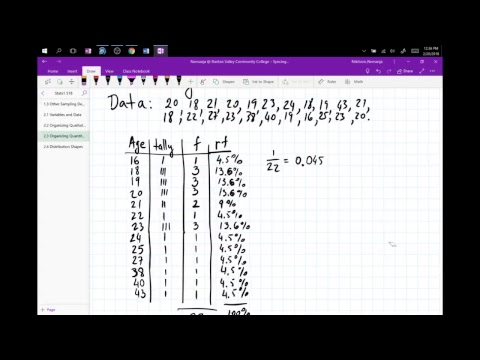 Nik's Live Calculus Stream (Statistics1 2.4 Distribution Shapes)