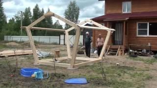 видео Как построить беседку из дерева своими руками?