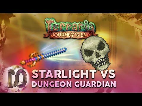 Starlight Vs Dungeon Guardian - Terraria 1.4 Journey's End - Dungeon Guardian Challenge In Terraria