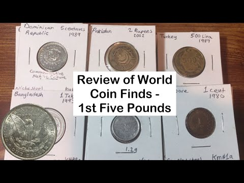 50 Pounds of Foreign Coins: The First 5 Pounds