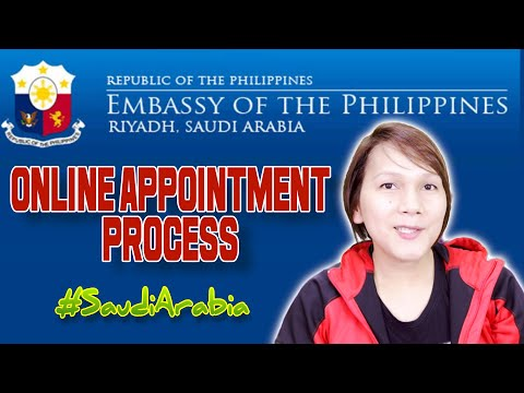 HOW TO MAKE ONLINE APPOINTMENT IN PHILIPPINE EMBASSY RIYADH - SAUDI ARABIA - EXPERIENCE - TAGALOG