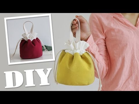 DIY TEXTILE CUTE PURSE BAG // Beam Port Hand Carry Bag Japanese Style - YouTube