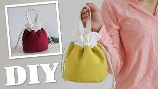 DIY TEXTILE CUTE PURSE BAG // Beam Port Hand Carry Bag Japanese Style