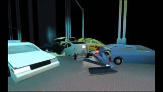 Roblox Pilha de seis carros acima na ponte