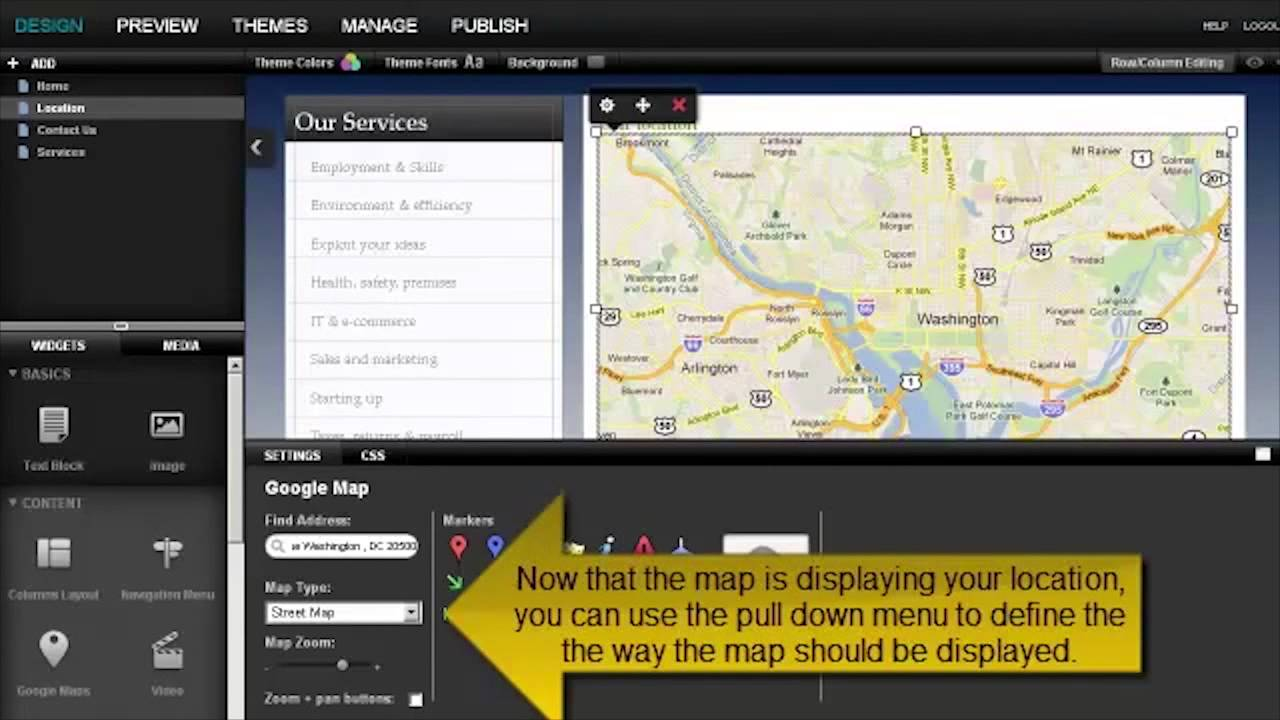 Ez Design Today - Adding a Google Map In SiteBuilder - YouTube