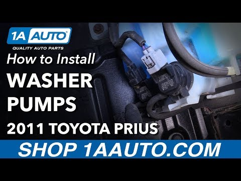 How to Install Replace Windshield Washer Pumps 2011 Toyota Prius