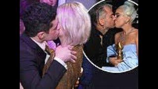 Rami Malek kisses Bohemian Rhapsody Lucy Boynton and Lady Gaga her wins