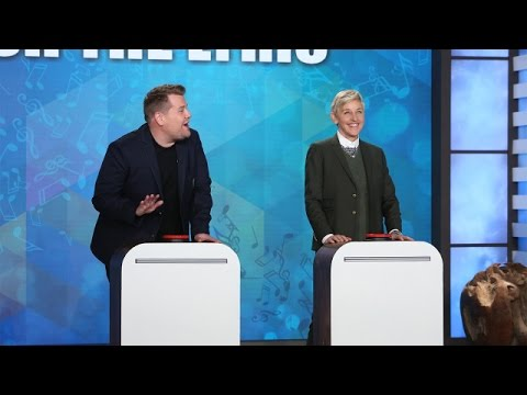 Thumbnail: 'Finish the Lyric' with Ellen, James Corden & Jesse Tyler Ferguson