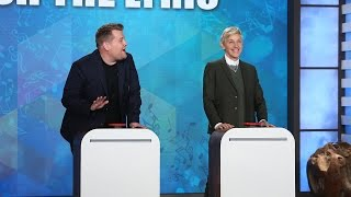 'Finish the Lyric' with Ellen, James Corden & Jesse Tyler Ferguson