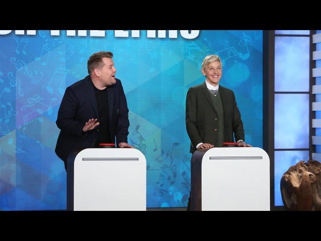 'Finish the Lyric' with Ellen, James Corden & Jesse Tyler Ferguson