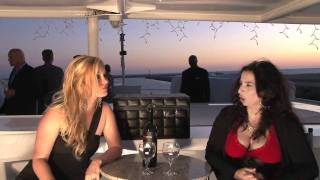 Actress Alice Amter from the Big Bang Theory visits Celebrity Wine Review TV