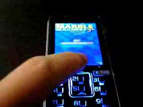Using motion sensor on the Sony Ericsson k850i to play games