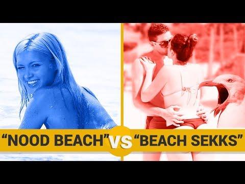 NOOD BEACH VS BEACH SECHS - Google Trends Show