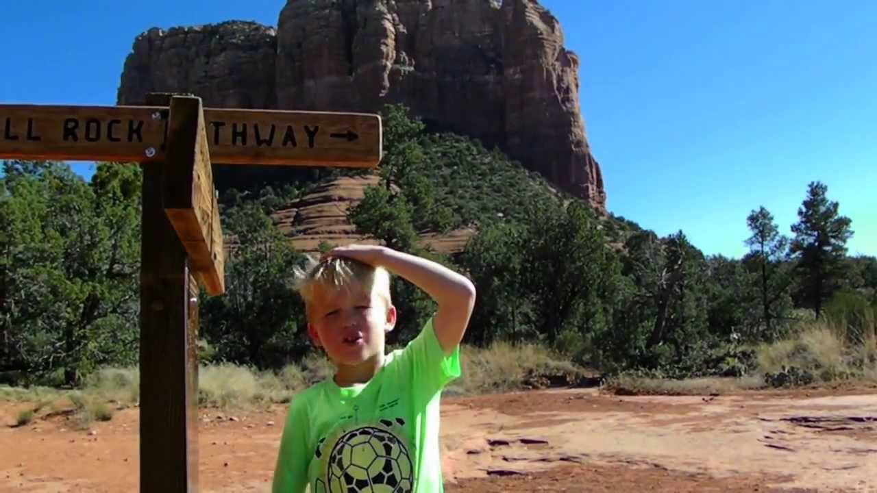 Recycle Kid Hikes Sedona