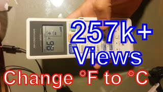 How to change Fahrenheit to Celsius Panasonic remote control air conditioner   F to C