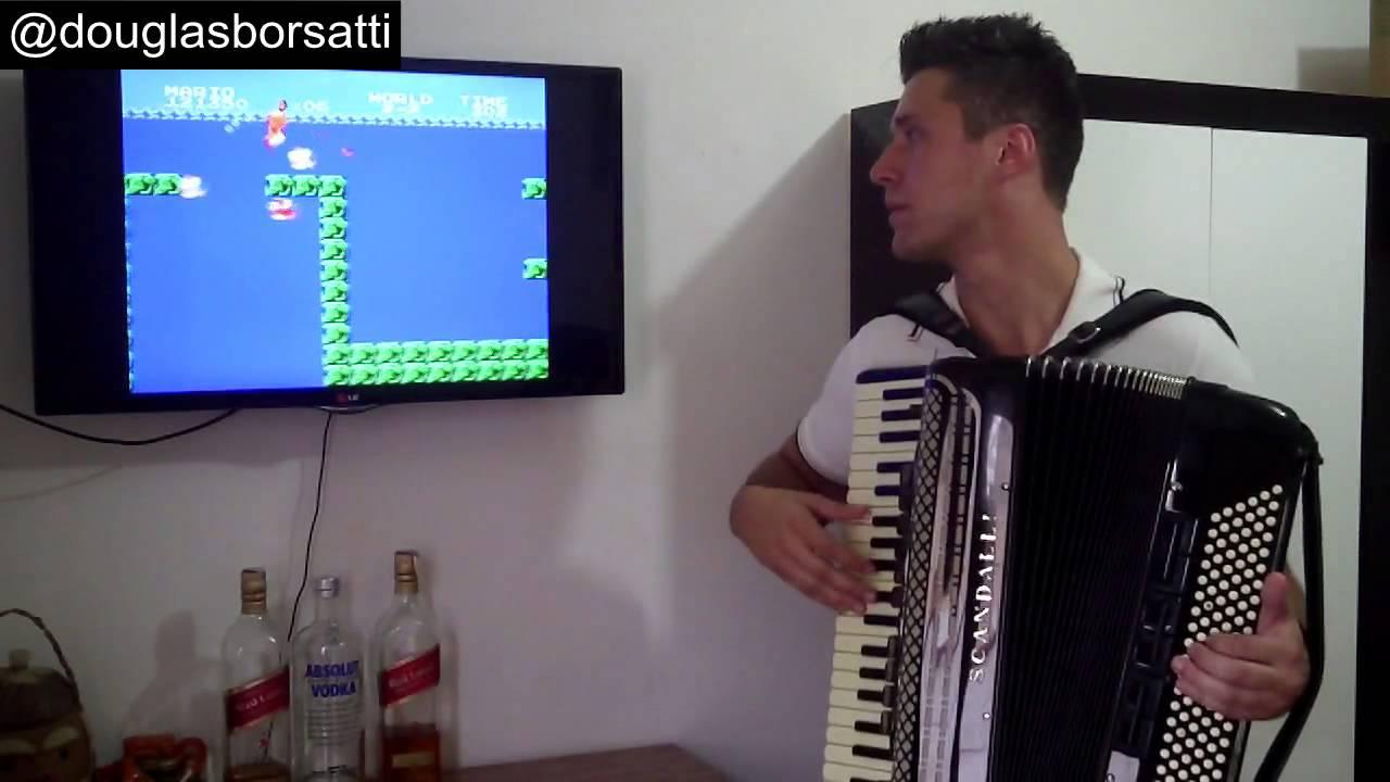 Runda w Mario z soundtrackiem zagranym na akordeonie