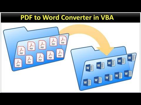 PDF To Word Converter Macro In Excel VBA