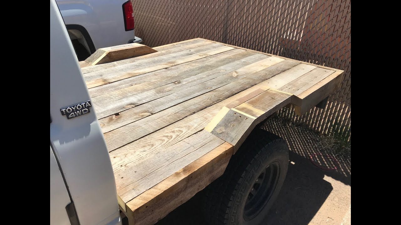 Epic Wood Flatbed On 80s Toyota Pickup