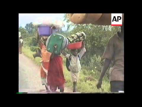 BURUNDI: REFUGEES FLEE INTO ZAIRE