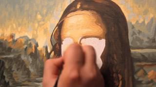 Картины по номерам. Часть 4. Пишем лицо Джоконды(Как рисовать по номерам, если речь идет о портрете? В этом видео Вы увидите завершение истории написания..., 2015-04-11T20:19:18.000Z)