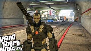 GTA 5 PC - War Machine LSPD Police Patrol - Day 3 (Iron Man Mod War Machine Armor)