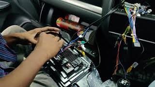 Honda WRV, Android Player installation with bracket