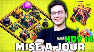 Gameplay EXCLUSIF de l'HDV 14 ! OFFICIEL ! Présentation COMPLETE ! Clash of clans FR
