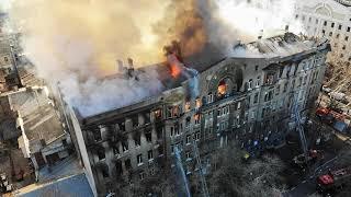 В колледже в Одессе произошел крупный пожар