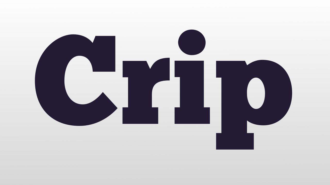 Crip meaning and pronunciation youtube biocorpaavc