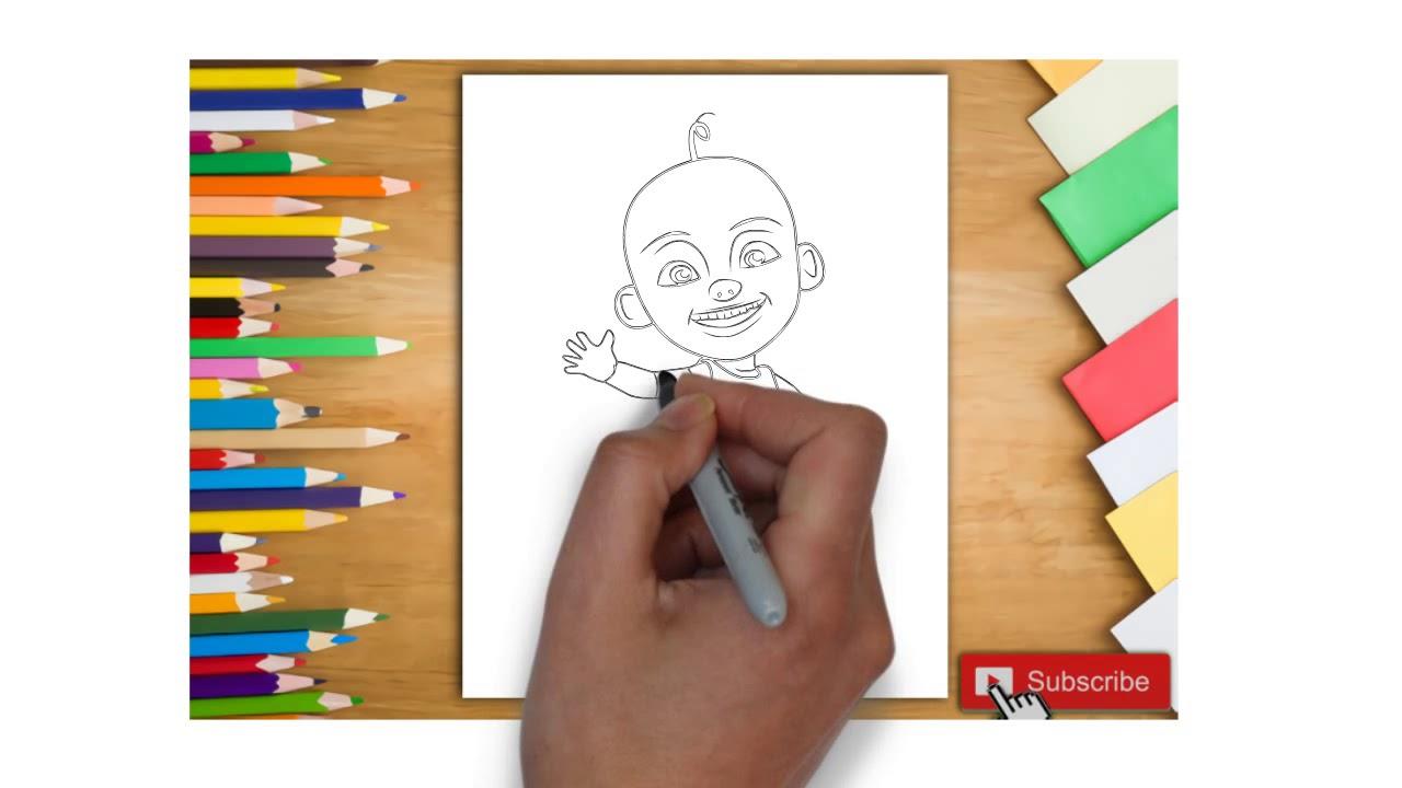 Belajar Menggambar Upin Ipin Untuk Anak Belajar Mewarnai Upin Ipin