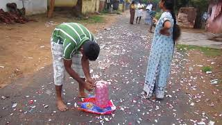 Happy Diwali Video Clips in Kerla with BIG BOMB (BOMB - LOCAL MADE) 2017, 2016, 2015