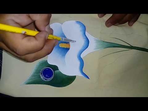 Tutorial De Pintura Textil Pintando Alcatraz Youtube