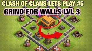 WALLS LEVEL 3 GRIND & NEW CLAN (Clash of Clans Let