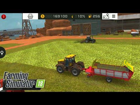 Fs18 farming simulator 18 - çim toplayıp inek beslemek - to move the lawn