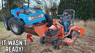 We Broke Our 4WD Power Wheels Go Kart on the FIRST JUMP! Road Test, Fuel Tank, Floor Mounted!