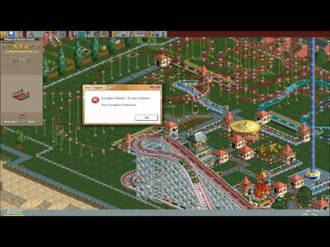 Roller Coaster Tycoon: Pissed Off On Stupid Error Trapper/ Let's Play Fail