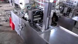 Fully Automatic Cigarette Packs Cellophane 3D Packing Equipment With Tear Tape