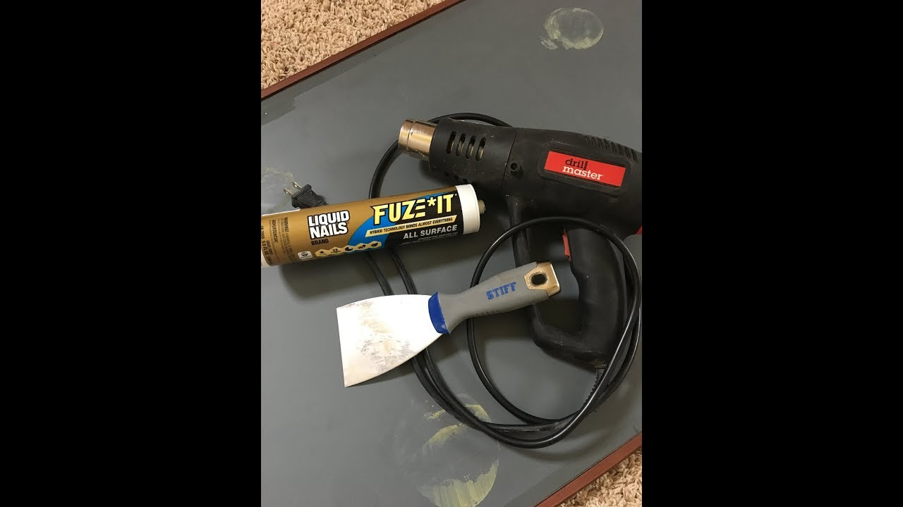 Removing Liquid Nails™ With Heat Gun - YouTube