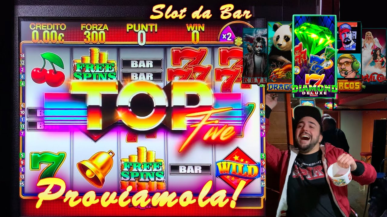 SLOT MACHINE da BAR - Proviamo la TOP FIVE???? (Multigioco Cristaltec)