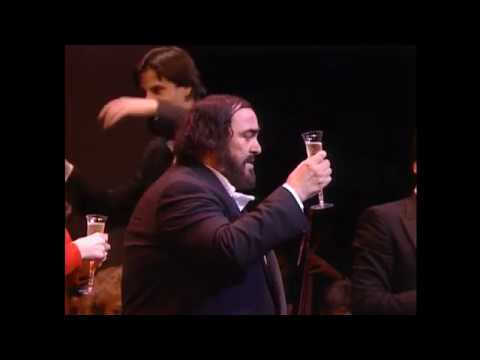 Libiamo Conducted  Steven Mercurio, Tenor Luciano Pavarotti