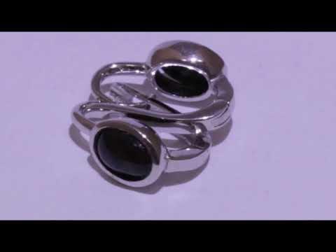 Серебряные серьги с натуральным опалом | Sterling Silver Earrings With Natural Opal