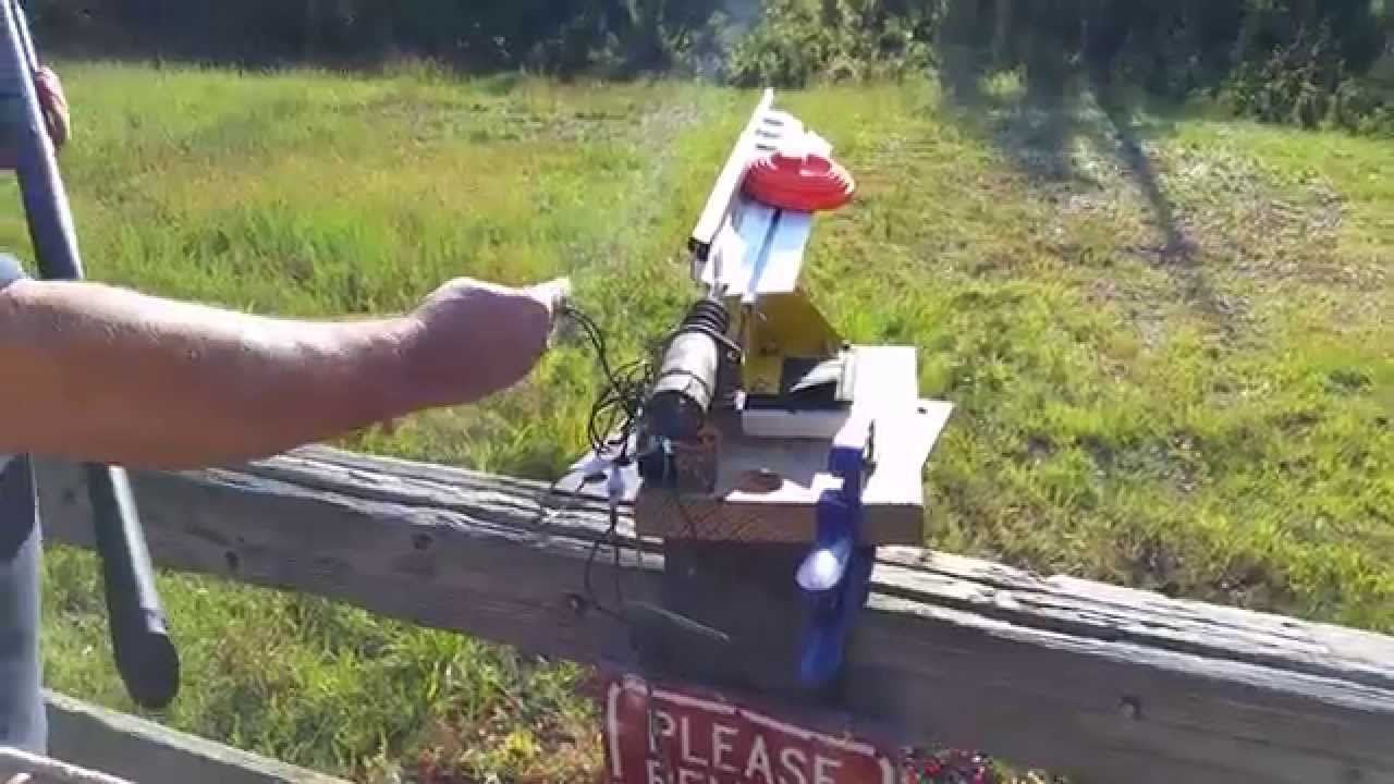 Clay Pigeon Thrower Modification Youtube