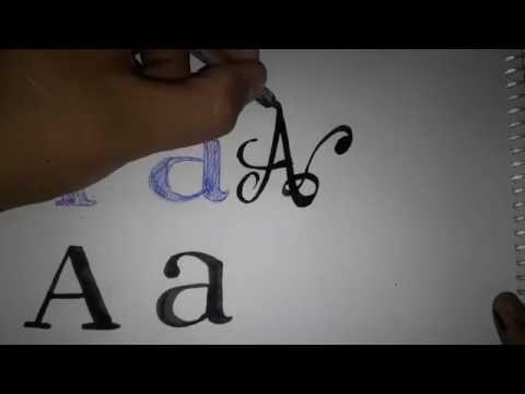 Como dibujar letras SERIF a pulso y con pincel plano - Sergio retro