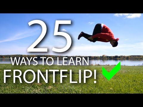 25 Ways to Learn How to Front Flip!