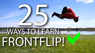 25 Ways to Leąrn How to Front Flip!