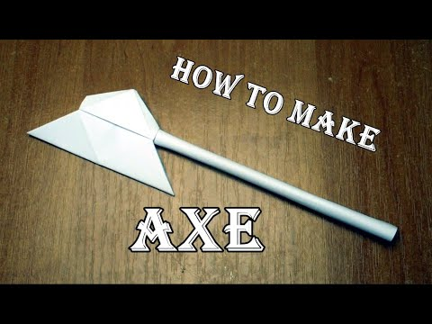 How to make an axe out of paper  Origami