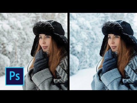 Холодный свет - Обработка зимней фотографии в фотошоп