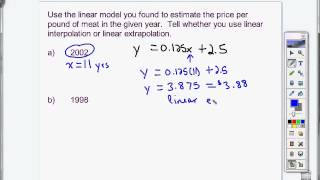 Linear Interpolation vs. Linear Extrapolation