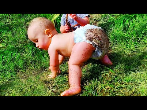 Funny Babies First Time Crawling -  Funny Baby Videos